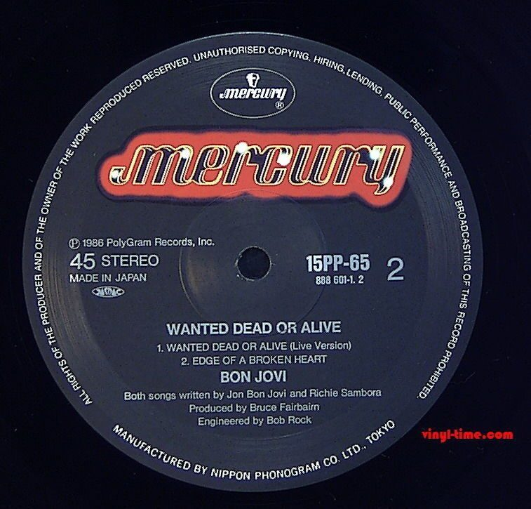 Wanted dead or alive sheet music
